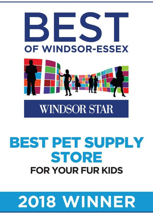 Poster: Windsor Star's Best of Windsor-Essex - Best Pet Supply Store 2018 Winner
