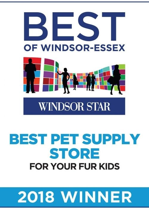 Poster: Windsor Star's Best of Windsor-Essex - Best Pet Supply Store 2018 Winner Pet Stores Windsor